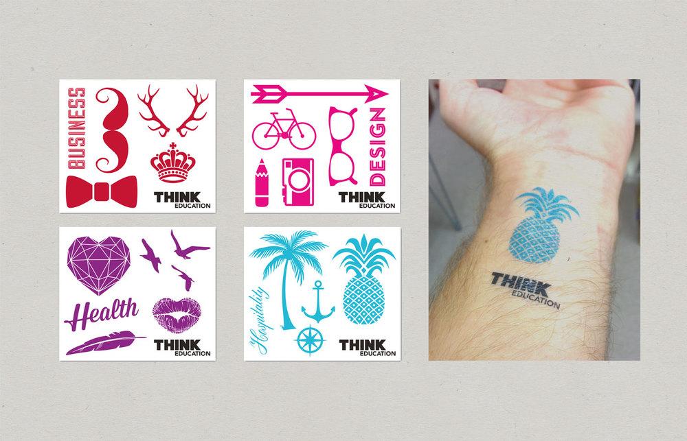 Think-Education-Design-Expo-Merchandise-tattoos