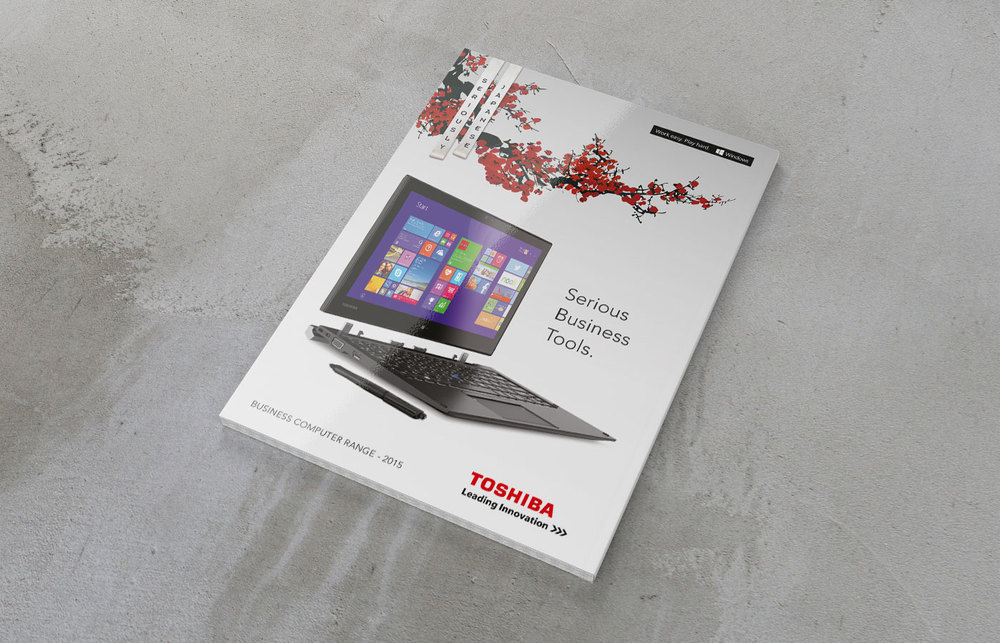 Toshiba business range brochure design