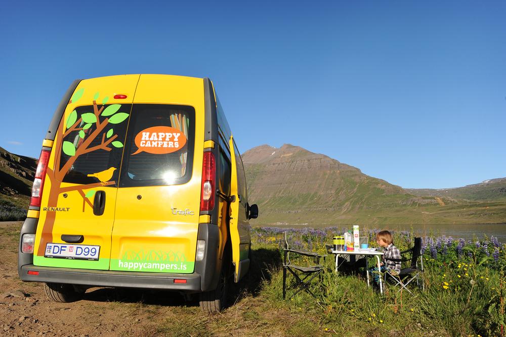Aamiaisella Islannissa