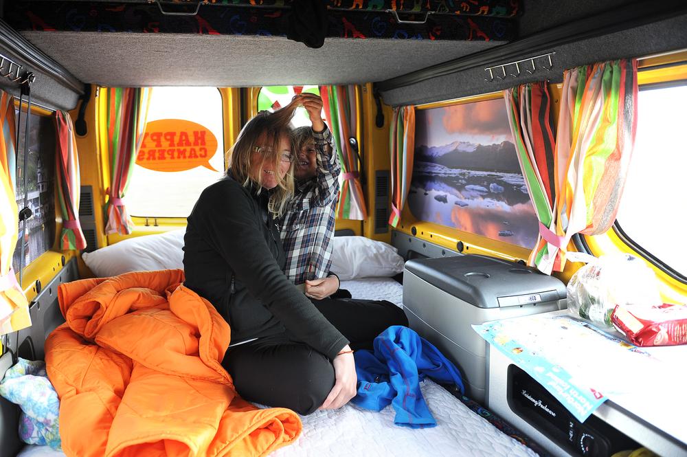 Campervan sisältä Islanti