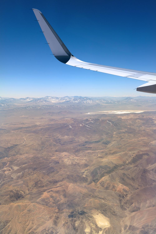 Chile, Atacaman autiomaa, lentokoneesta