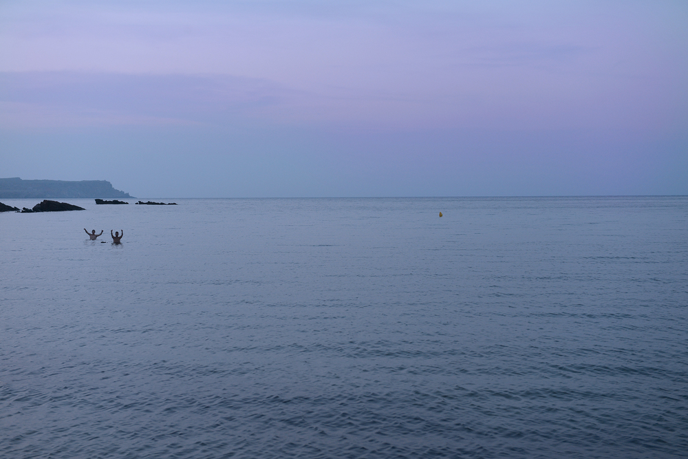 Menorca, Espanja, Välimeri, yö, ranta, meri