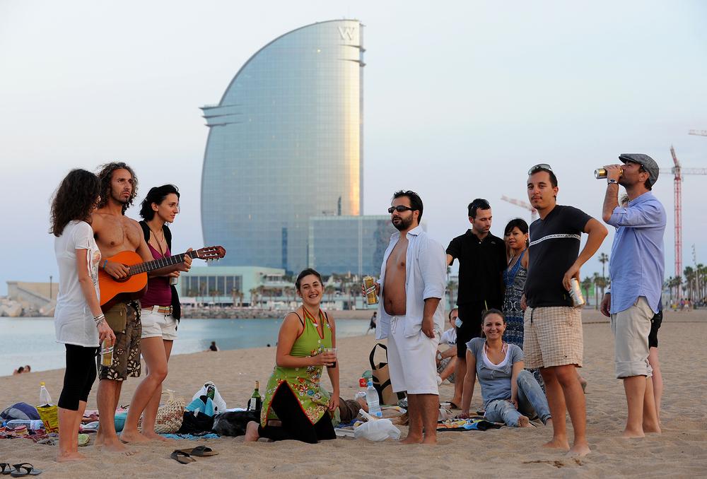 Barcelona, ranta, juhla, matkablogi, matka, kesä, kaupunkimatka