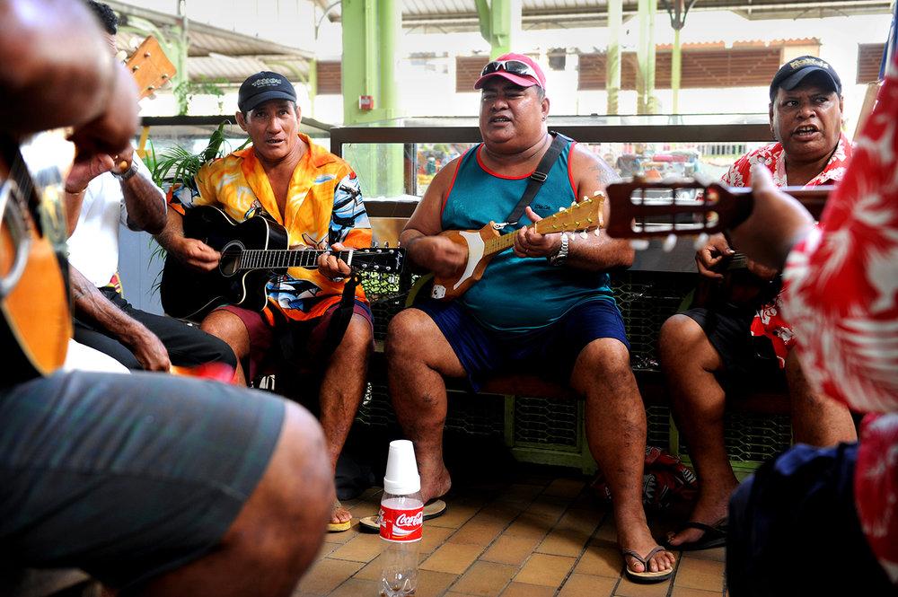 Musiikki, tori, Tahiti, Tyyni Valtameri, Polynesia, matka, matkablogi