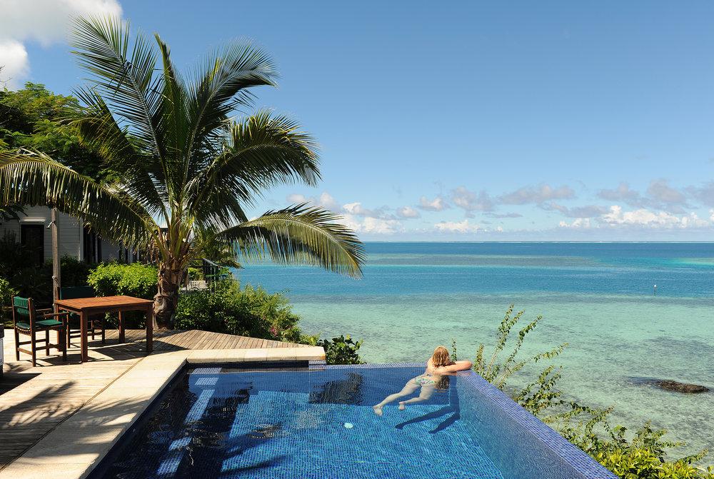 Fidzi, uima-allas, infinity pool, Tyynimeri, paratiisisaari, tropiikki, matka, matkablogi, luksushuvila, private island