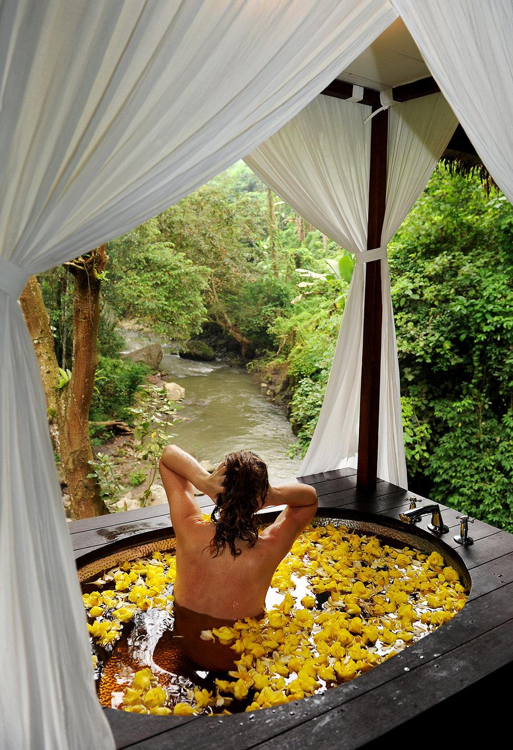 matka, matkailu, matkablogi, kylpy, spa, kukkakylpy, tropiikki, sademetsä, Bali, Ubud