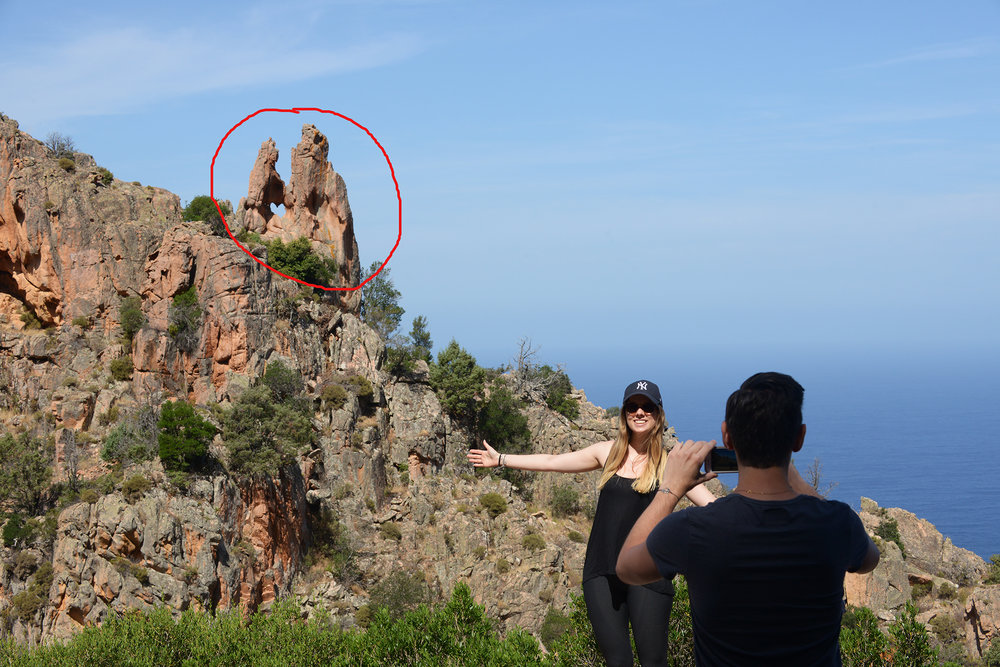 Matkablogi, turisti, nähtävyys, huono nähtävyys, matka, sydän, Korsika, Ranska