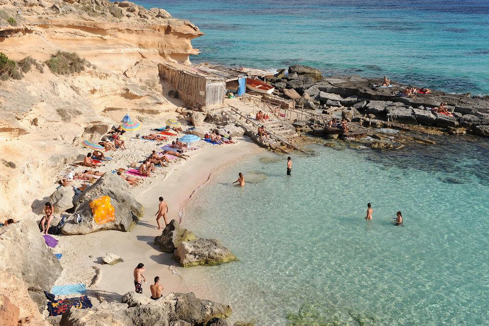 Formentera, Espanja, ranta, nudismi, Välimeri, matka, matkablogi