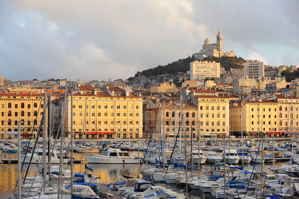 Marseille, Provence, Ranska, satama, ilta, matka, matkablogi