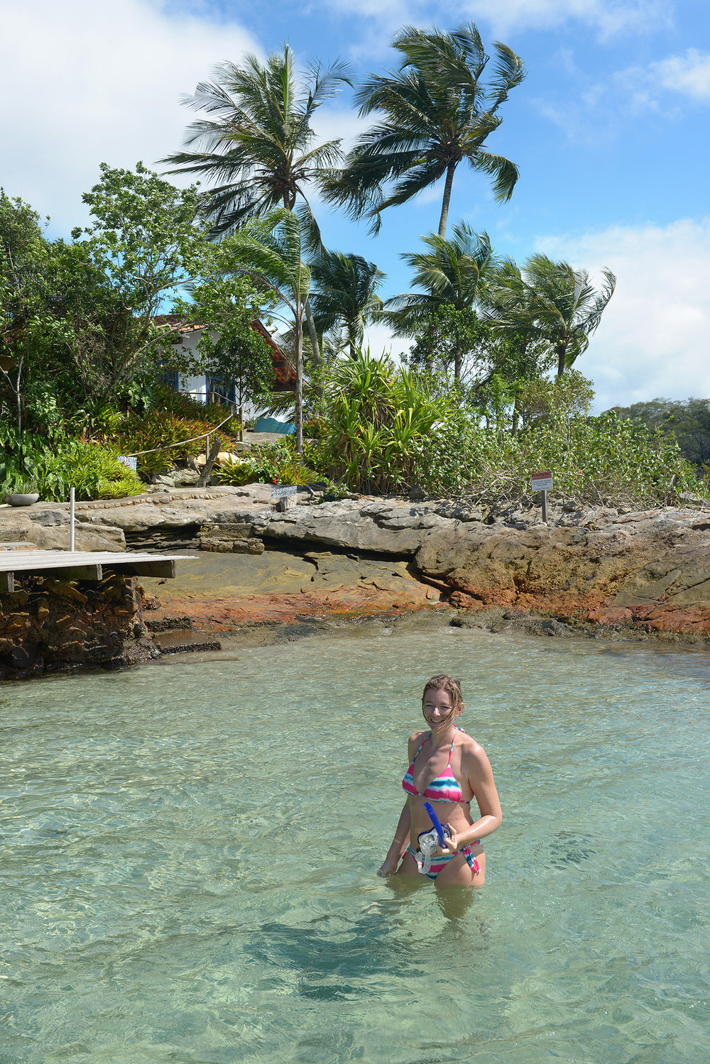 Matkablogi, matka, ranta, Brasilia, snorklata, turkoosi meri