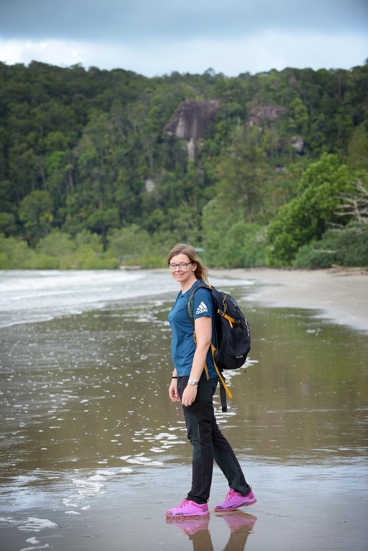 Trekkaus, patikointi, ranta, kävely, matka, matkailu, matkablogi, Borneo, Malesia