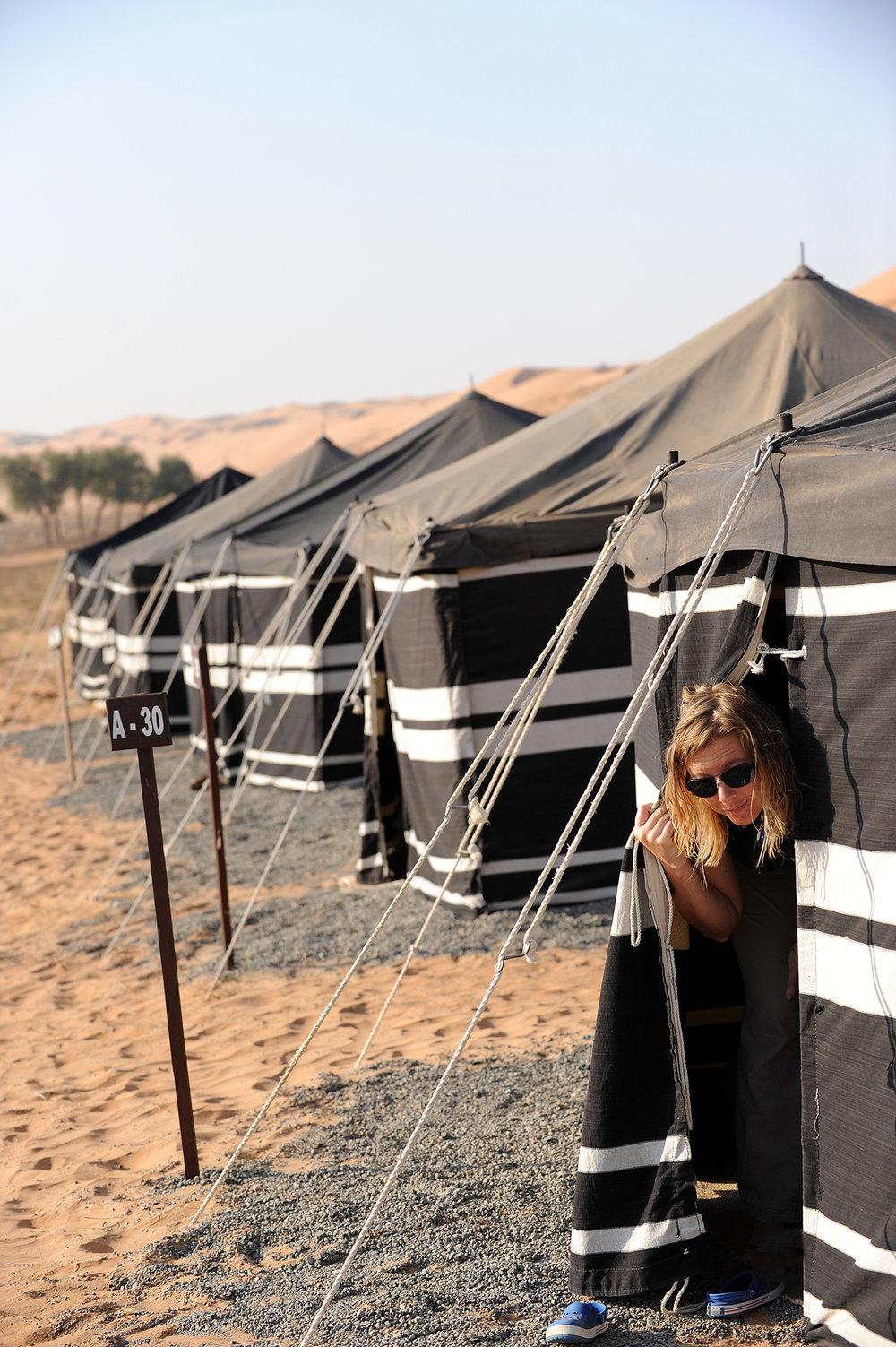 Oman, aavikko, hotelli, matka, matkablogi, teltta