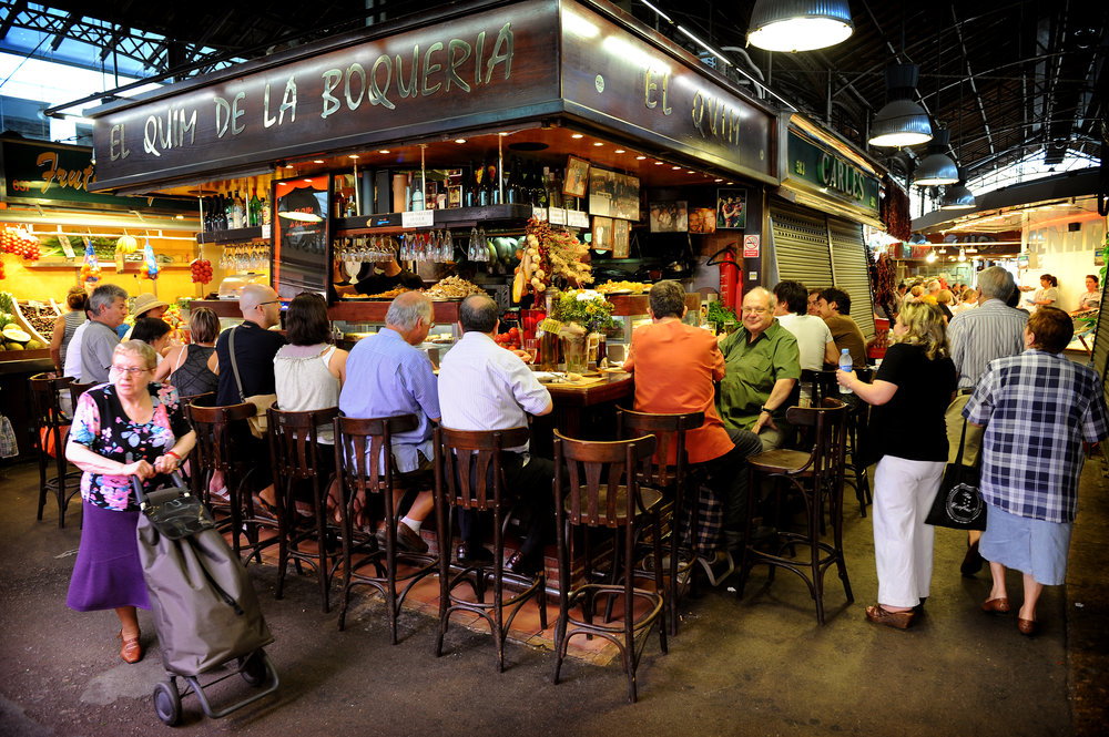 Barcelona, Boqueria, Espanja, ravintola, matka, matkablogi