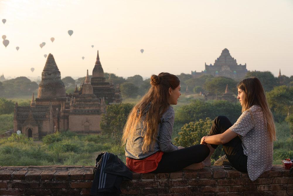Myanmar, Burma, Bagan, kuumailmapallo, aamu