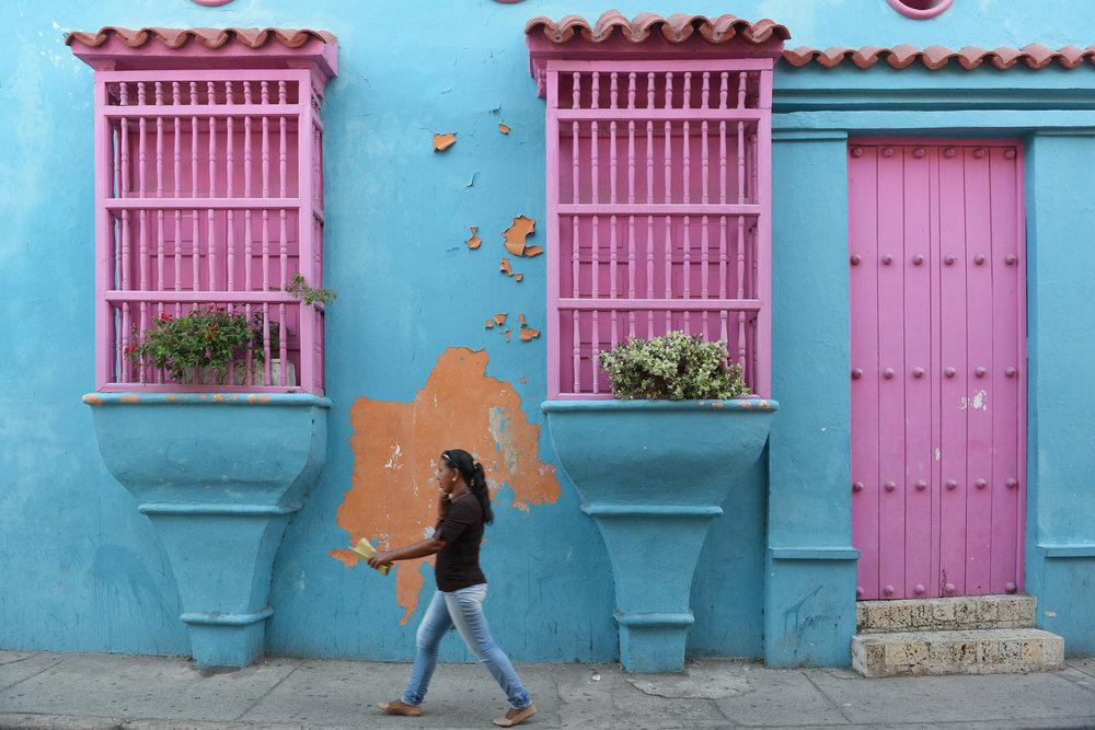 Kolombia, Cartagena, Karibia, värikäs, Etelä-Amerikka