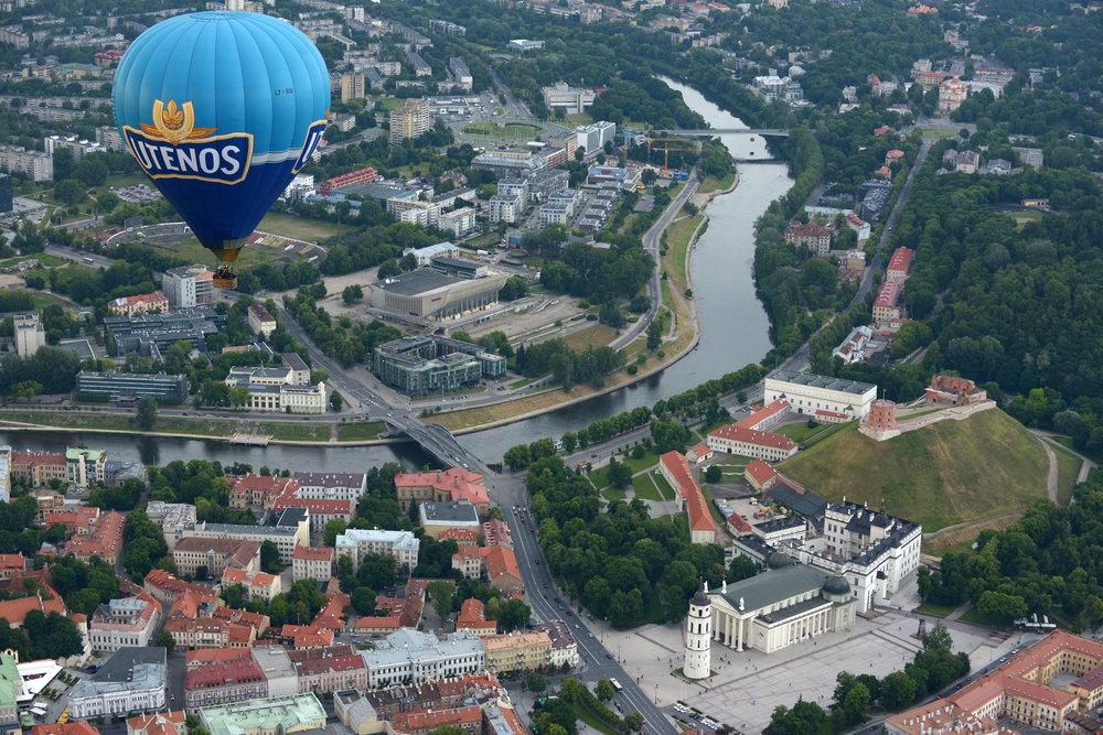 Latvia, Vilna, kuumailmapallo, matka