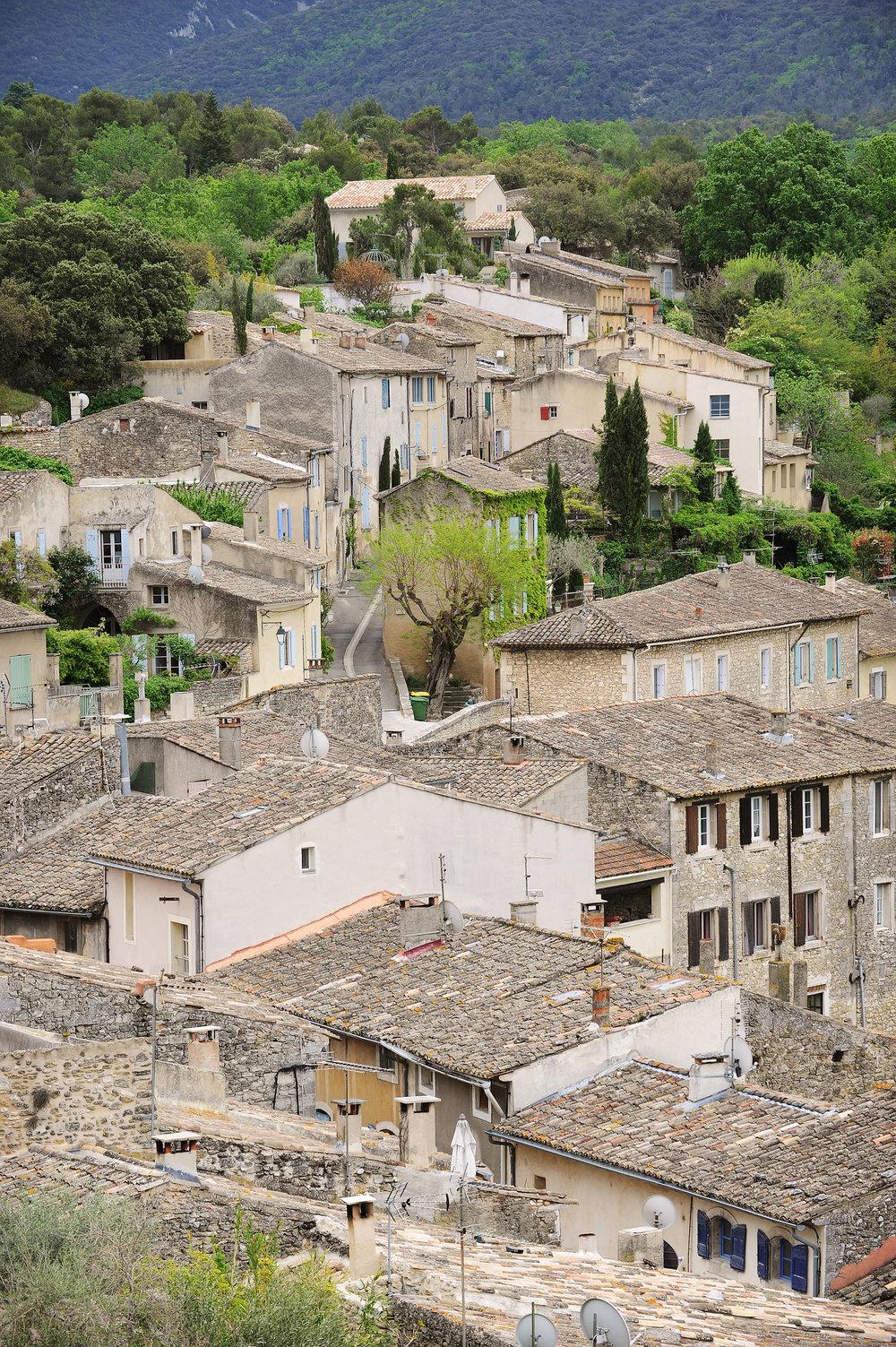 Kylä, Provence, Ranska, Louberon