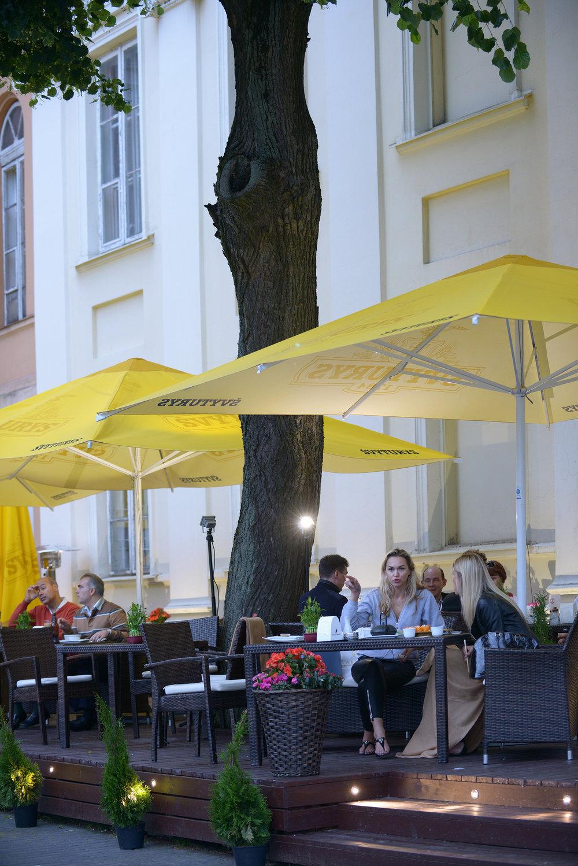 Ravintola, Vilna, matka, keskusta
