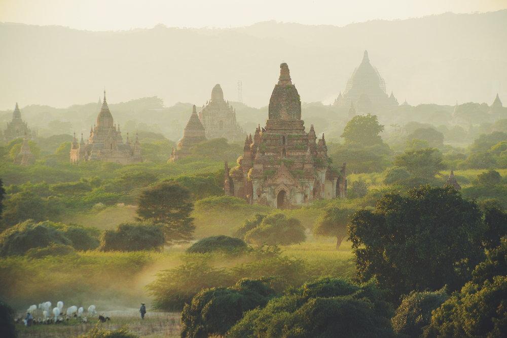 Myanmar, Bagan, Burma, maisema
