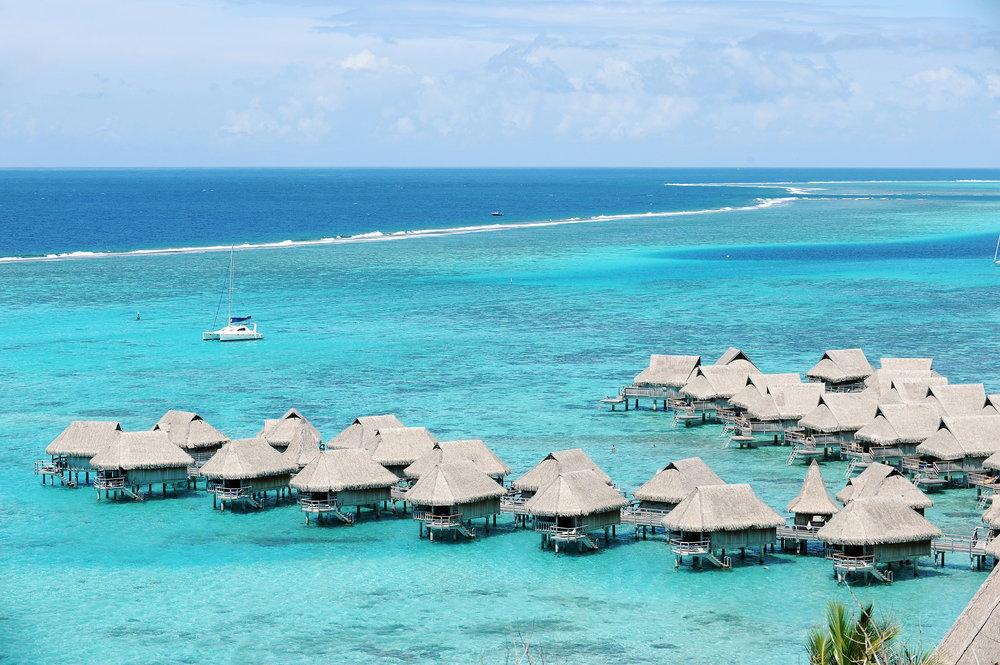 Moorea, Tahiti, hotelli, maisema