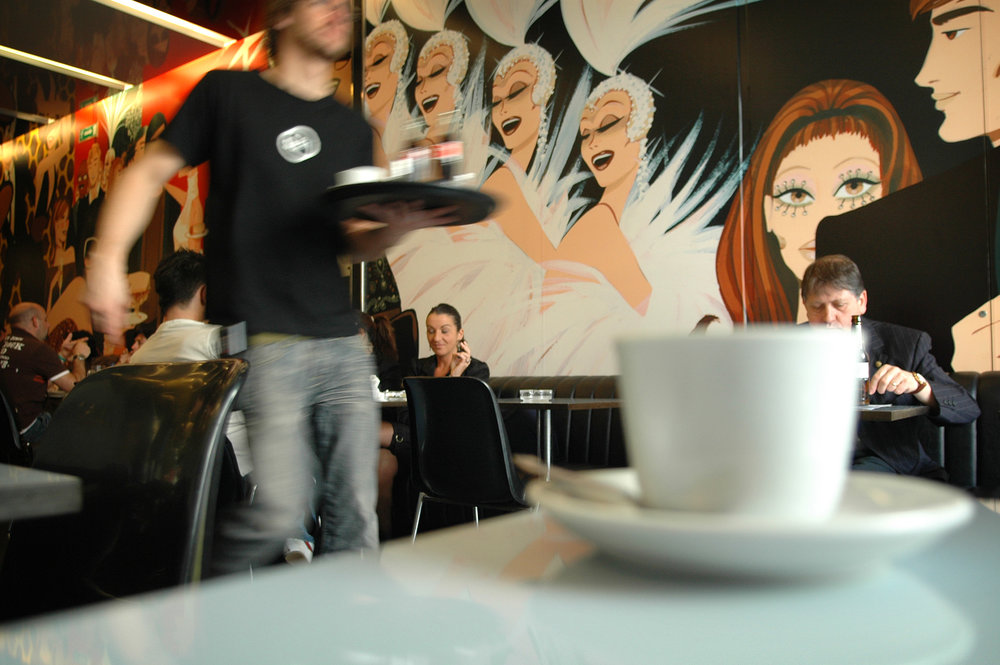 Barcelona, espanjalaiset, kahvila