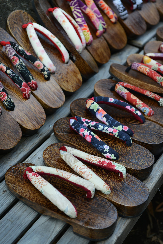 Temppeli, tossut, sandaalit, Kioto
