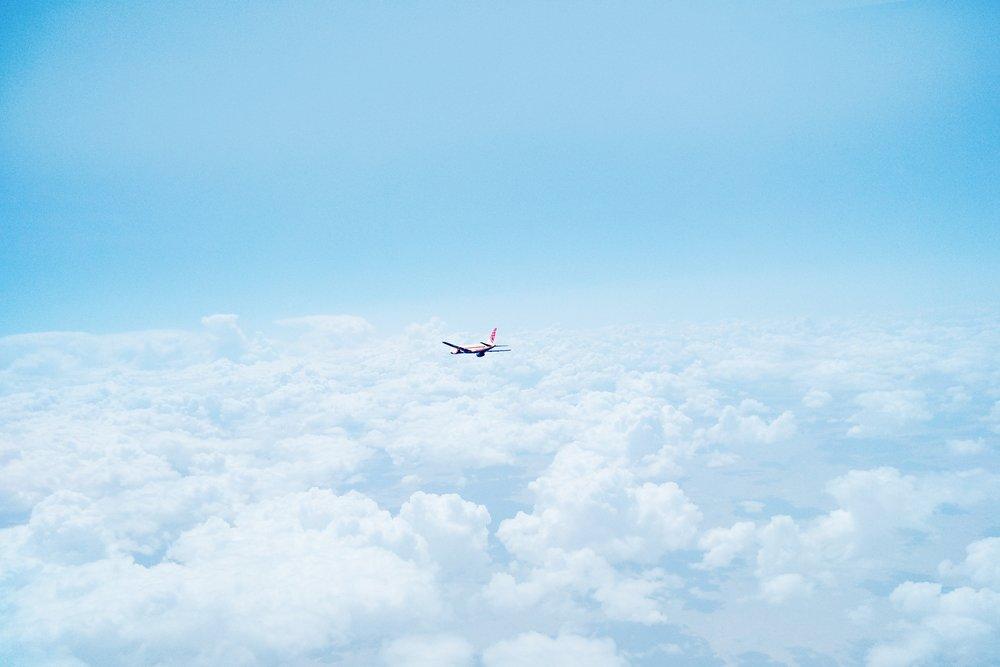 pilvet, lentokone
