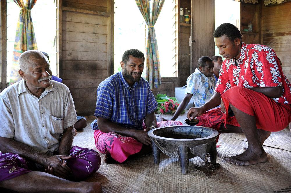 Fidzi, Fiji, kavaseremonia, kylä