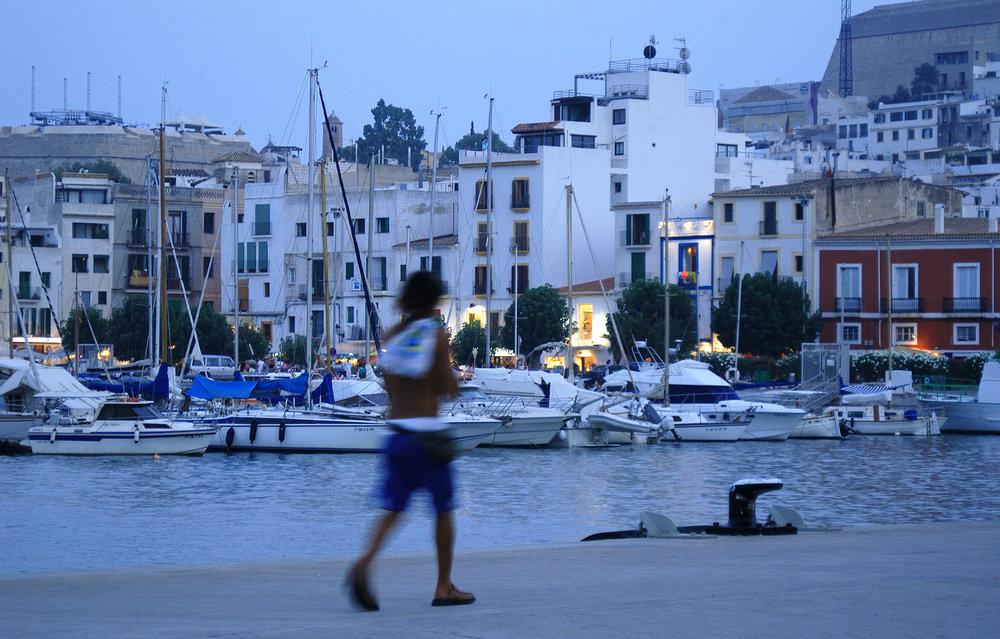Ibiza, Espanja, ilta