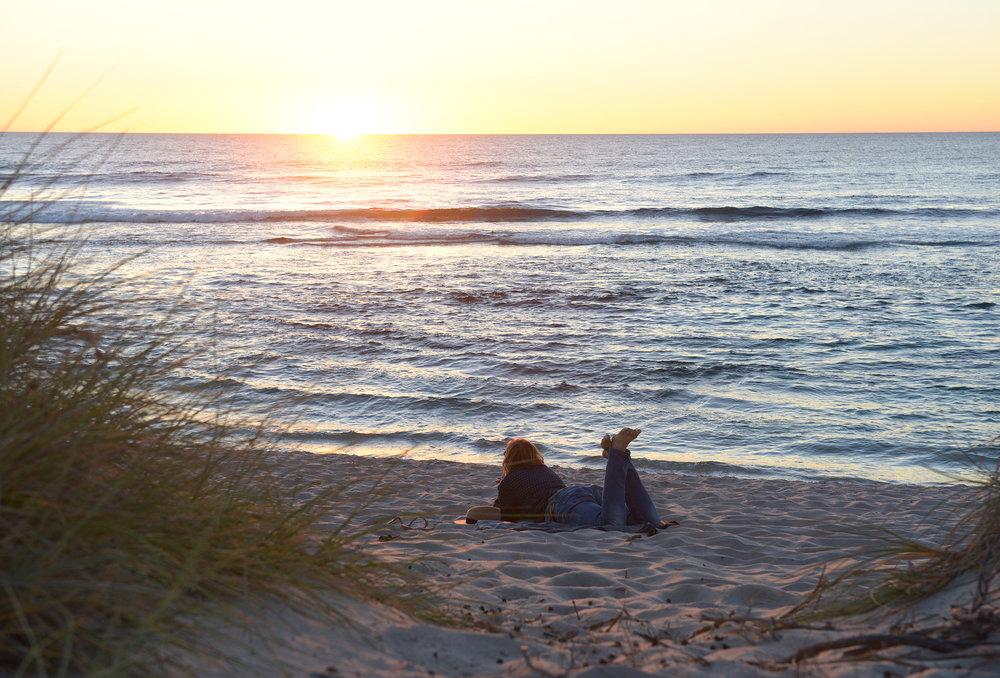Australia, WA, auringonlasku, ranta
