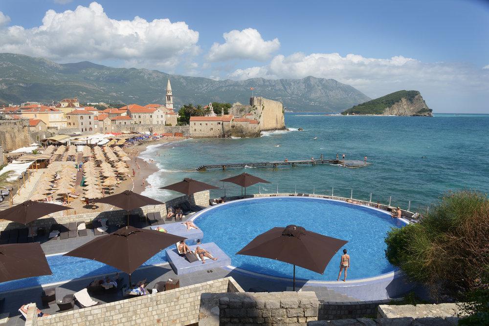 Montenegro, Budva, uima-allas