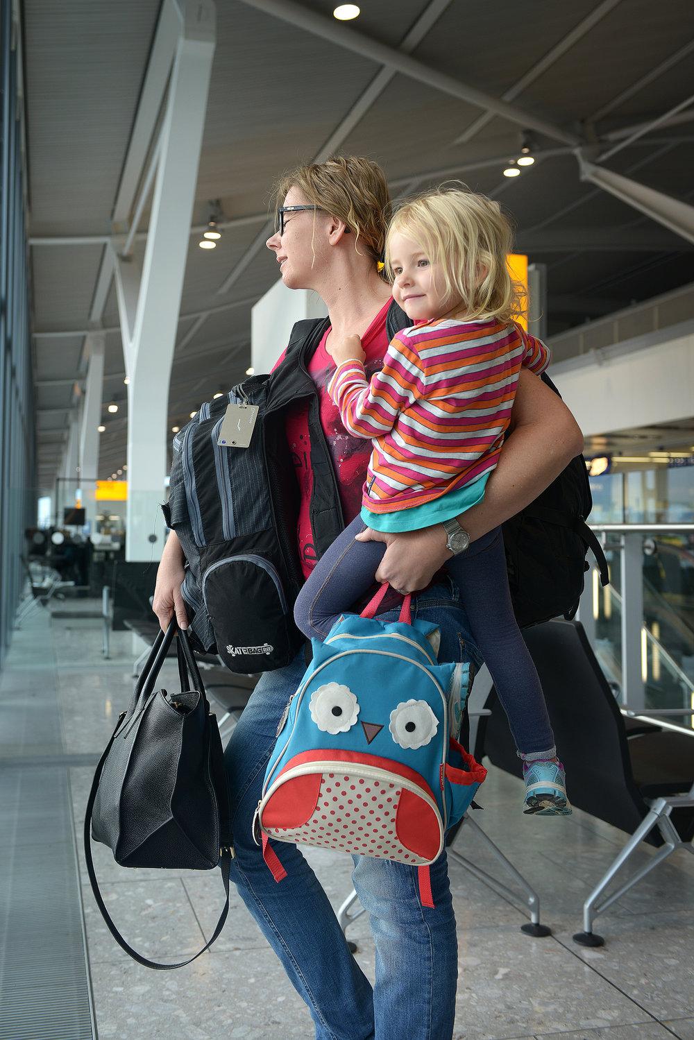 Lentokenttä, lapsi
