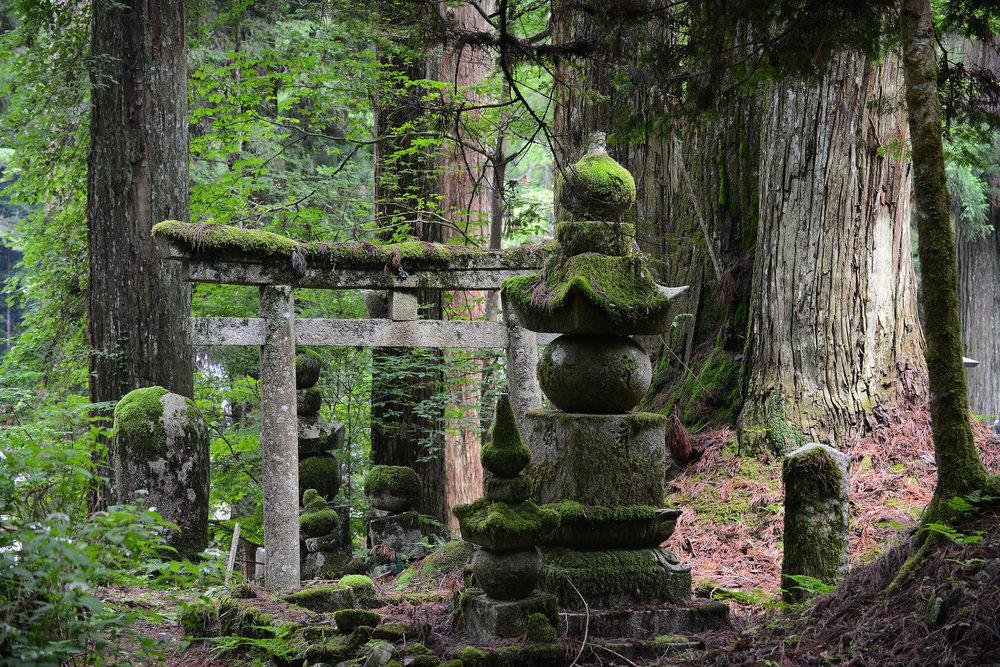 Japani, Koyasan, Okunoin, hautausmaa