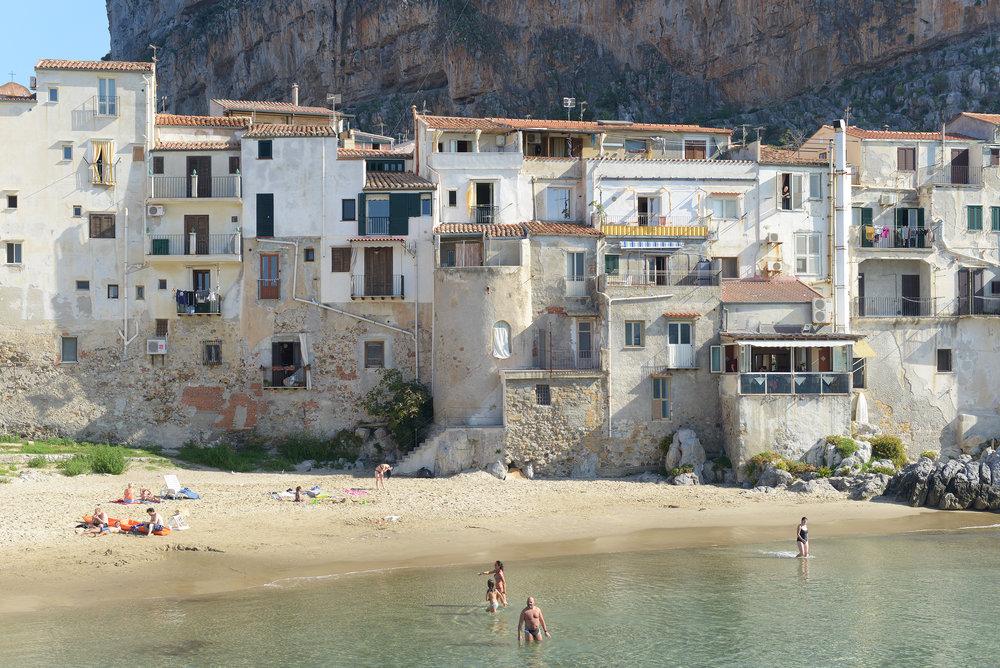Cefalu, ranta, Sisilia