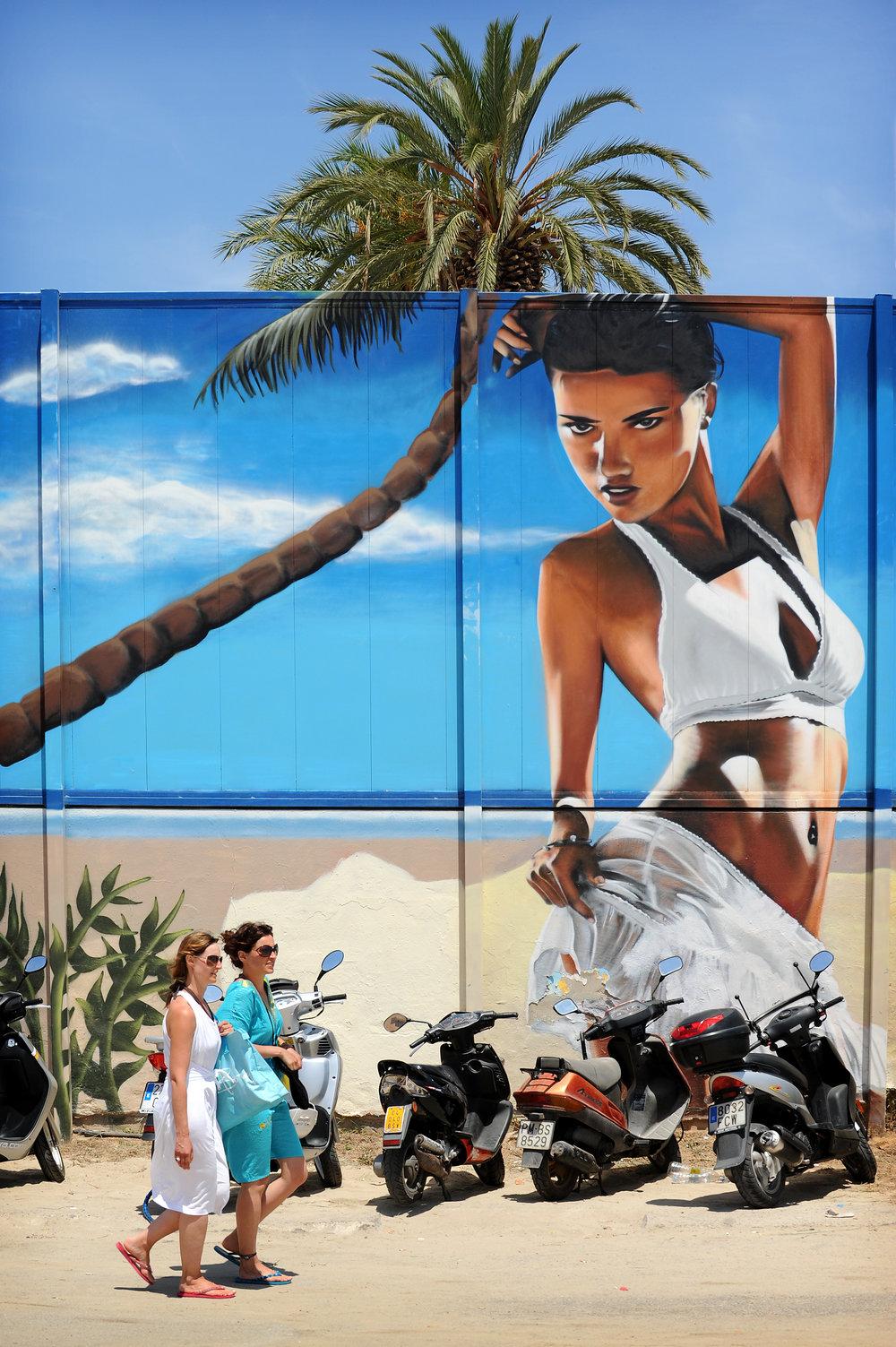 Ibiza, palmu, Espanja