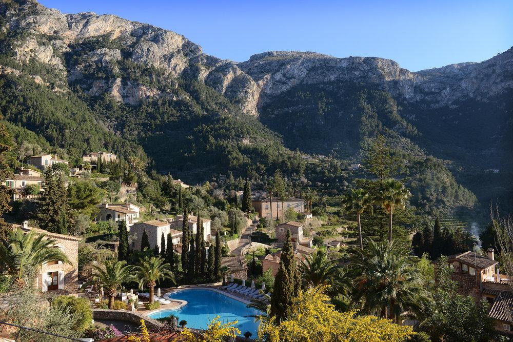 Mallorca, Espanja, Baleaarit, Deia, vuoristo, kylä, Välimeri