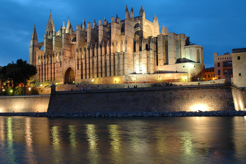 Mallorca, Palma de Mallorca, Espanja, Baleaarit, Katedraali la Seu, Välimeri
