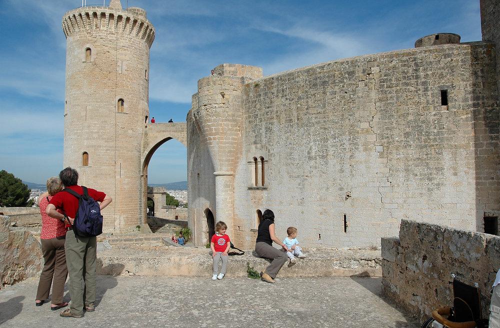 Mallorca, Palma de Mallorca, Espanja, Baleaarit, Bellverin linna, Castell de Bellver, nähtävyys