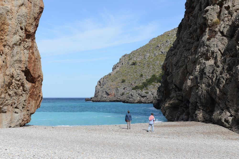 Mallorca, Tramuntana-vuoristo, ranta, Sa Calobra, Välimeri