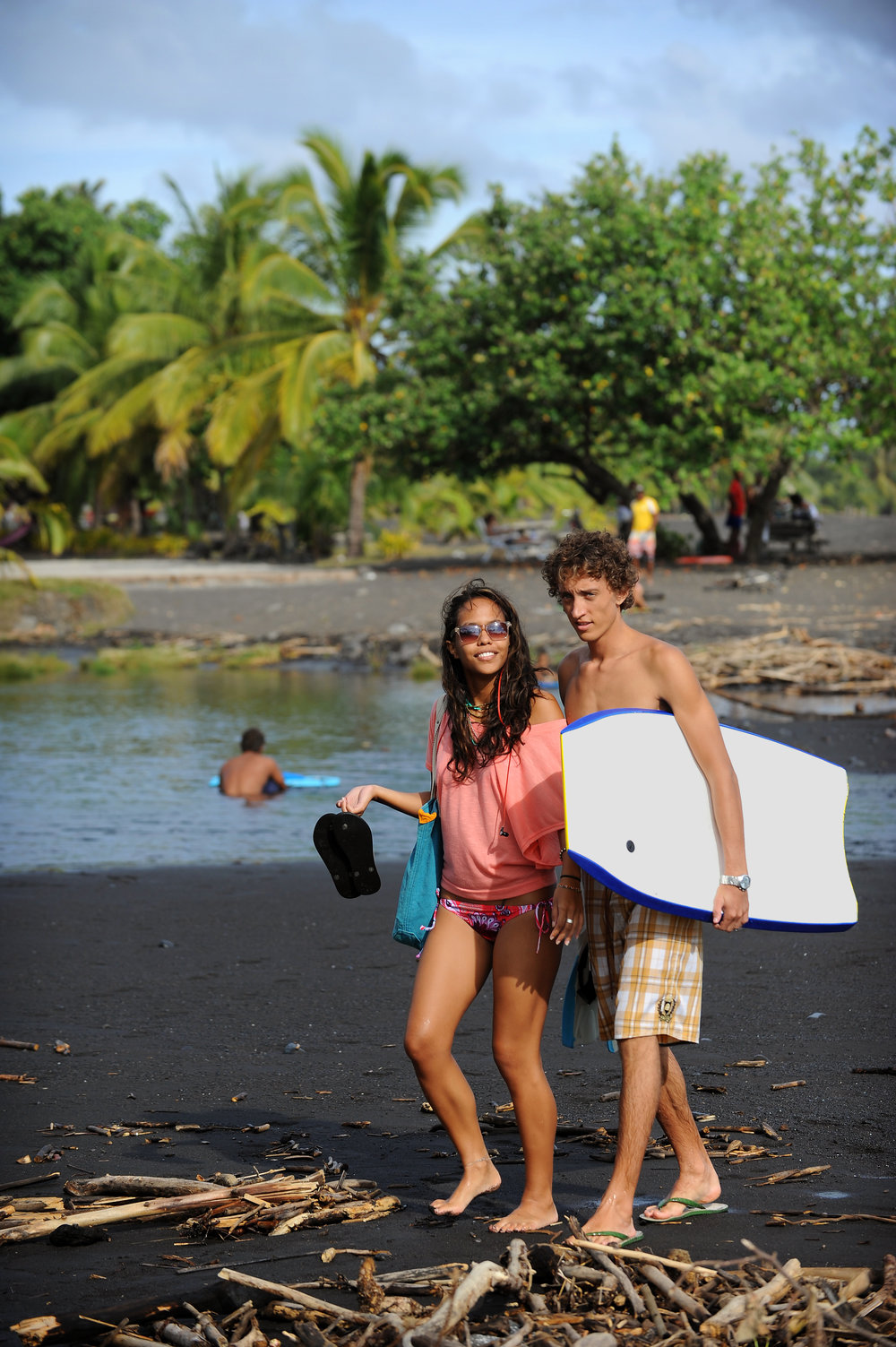 tahiti, body board