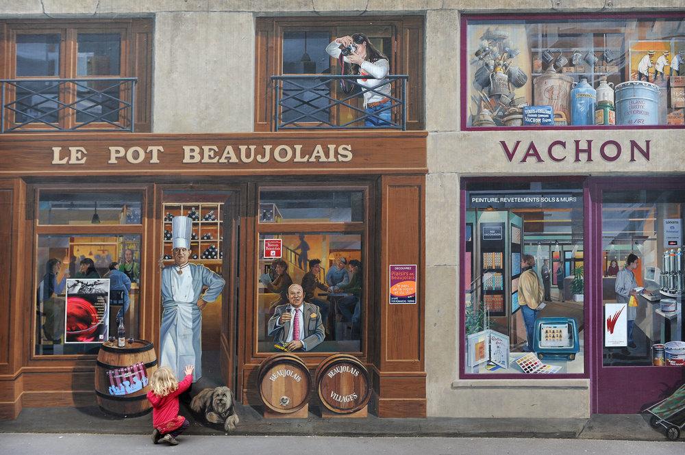 Lyon, Ranska, seinämaalaus