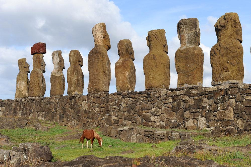 Pääsiäissaari, Chile, patsaat, moai