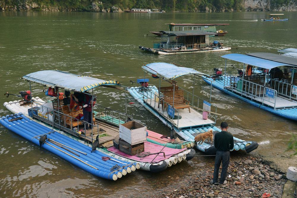 Kiina, Li-joki, bambulautta
