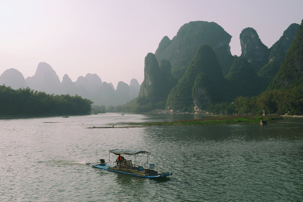 Kiina, LI-joki, maisema