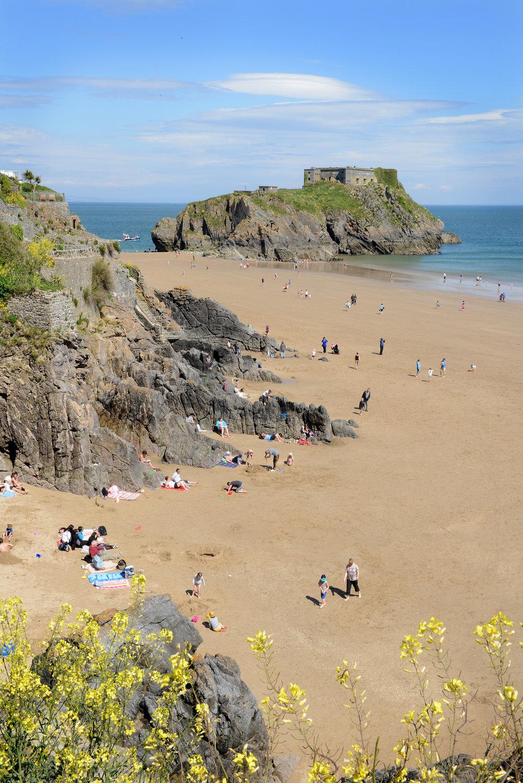 Wales, Iso-Britannia, Tenby, hiekkaranta
