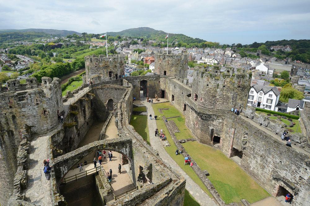 Wales, Conwy, linna