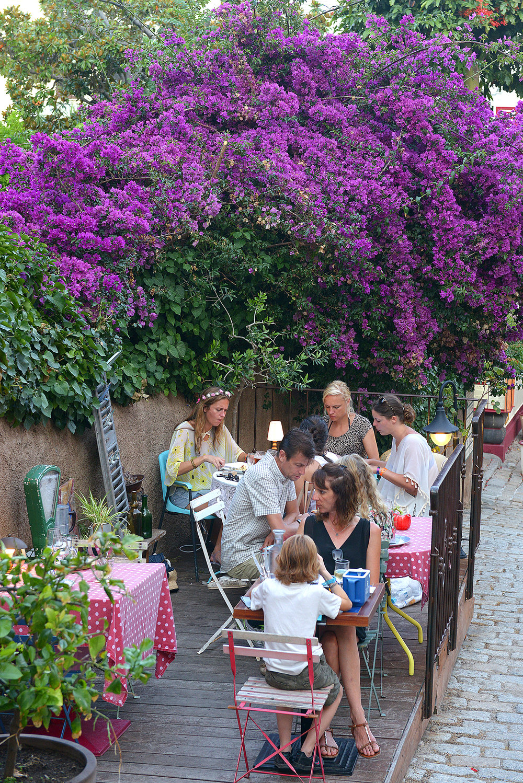 Korsika, Ranska, Calvi, ravintola