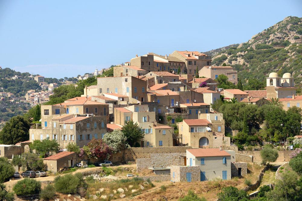 Korsika, Ranska, Pigna, maisema