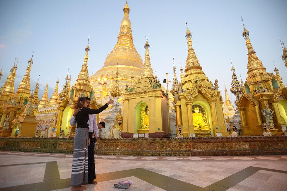 Rangon, temppeli, Burma