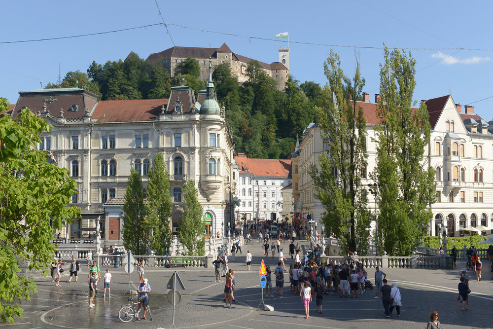 Slovenia, Ljubljana, vanhakaupunki